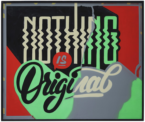 Bijdevleet painting Nothing is original Straat International Street Art Museum Amsterdam