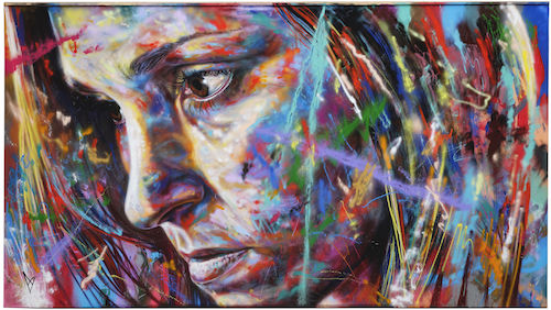 David Walker painting Straat international street art museum