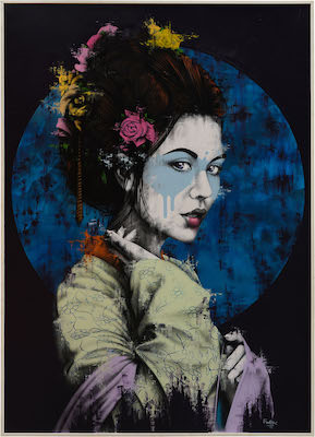 Fin DAC painting Yuansu Straat International Street Art Museum Amsterdam