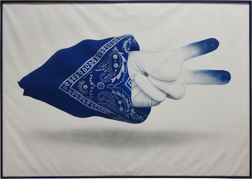 Nuno Viegas painting Bandana x glove Straat International Street Art Museum