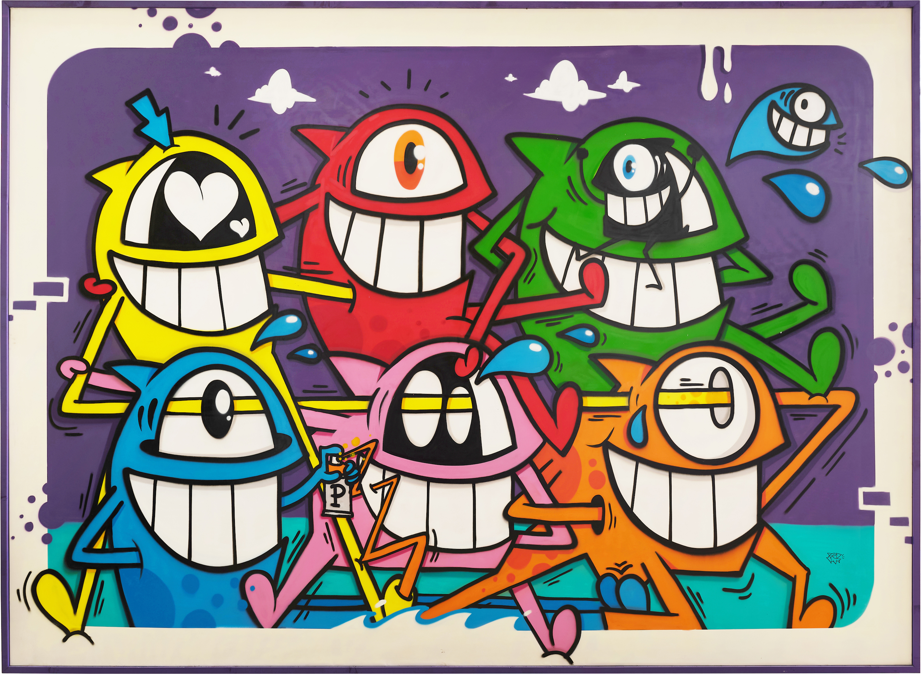 Pez painting Happy connections Straat International Street Art Museum