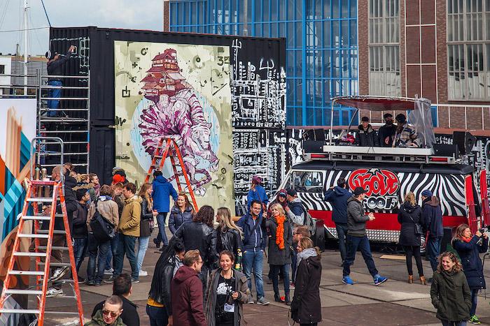 Pso Man Straat Museum Amsterdam