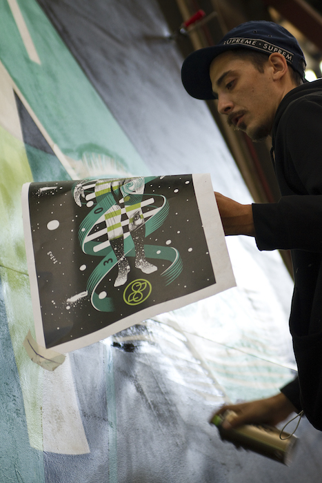Dourone painting Straat international street art museum