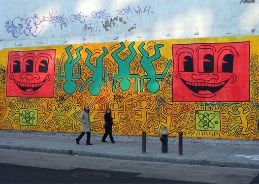 Keith Haring Houston Bowery Wall